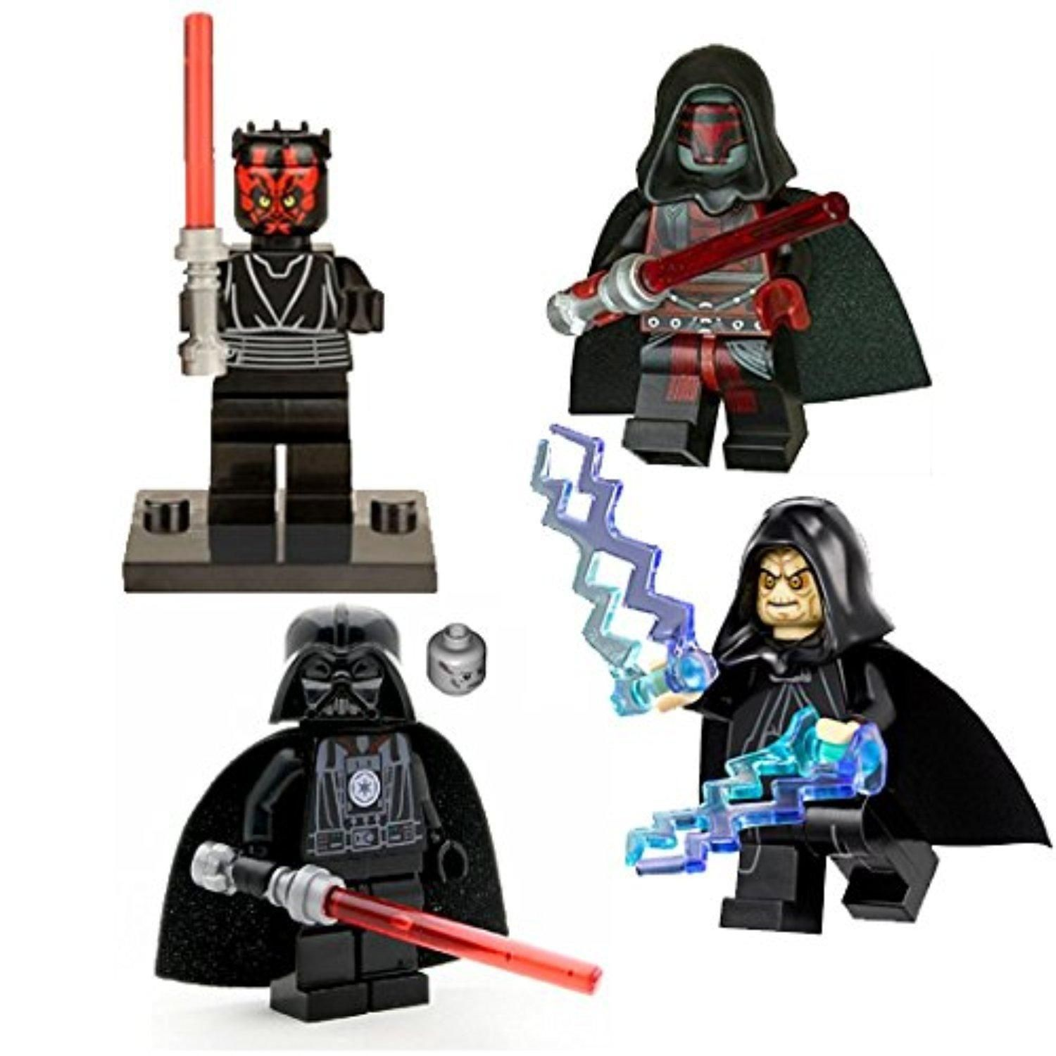 LEGO Compatible Minifigures Sith Lords Darth Vader, Darth ...