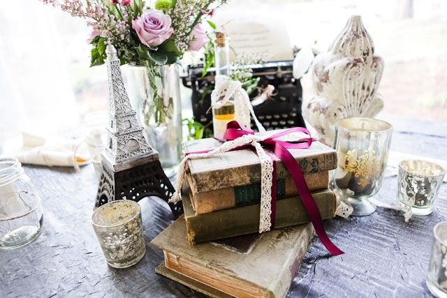 Wedding Reception French Theme Tablescape And Favors