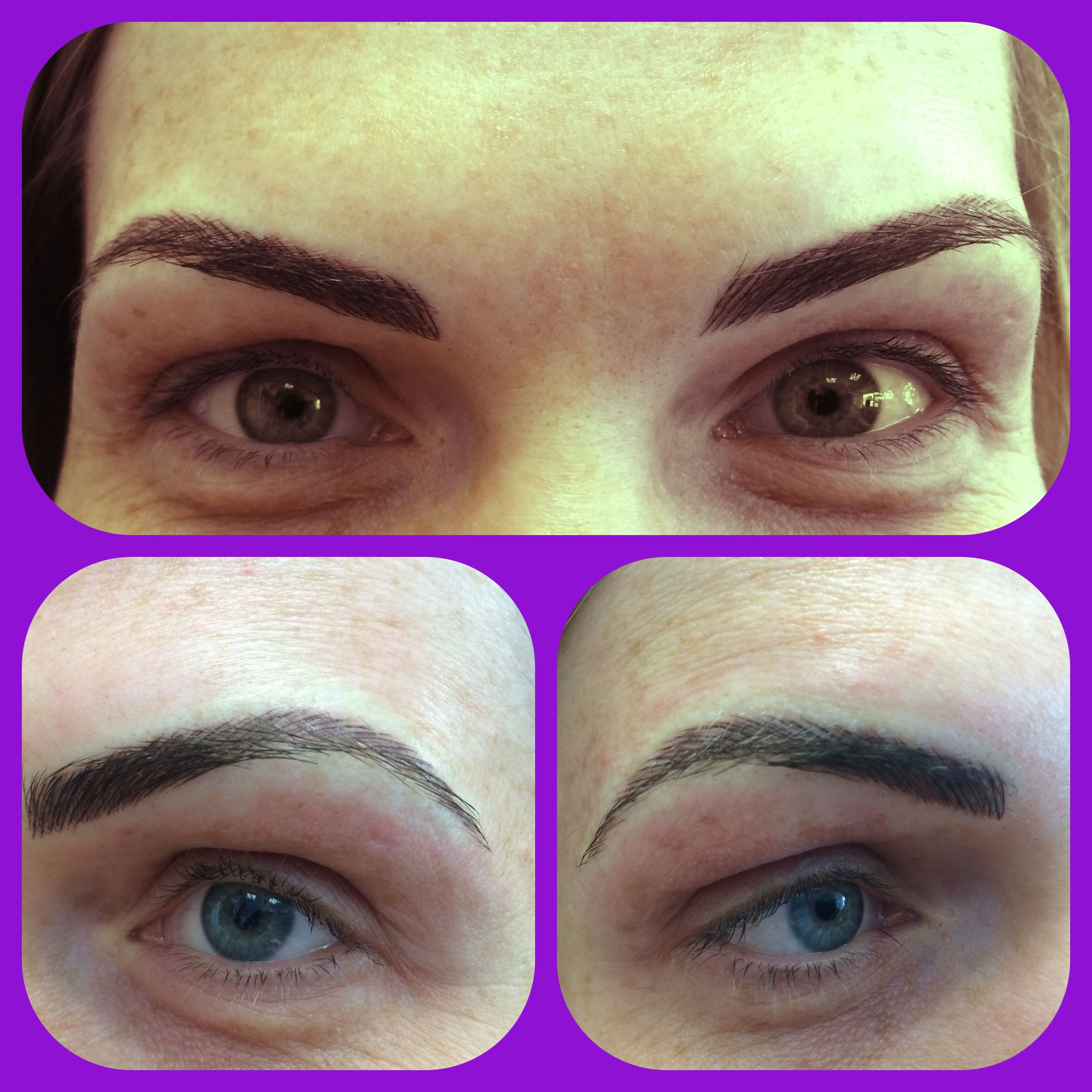 New brows down today semipermanentmakeup hairstroke