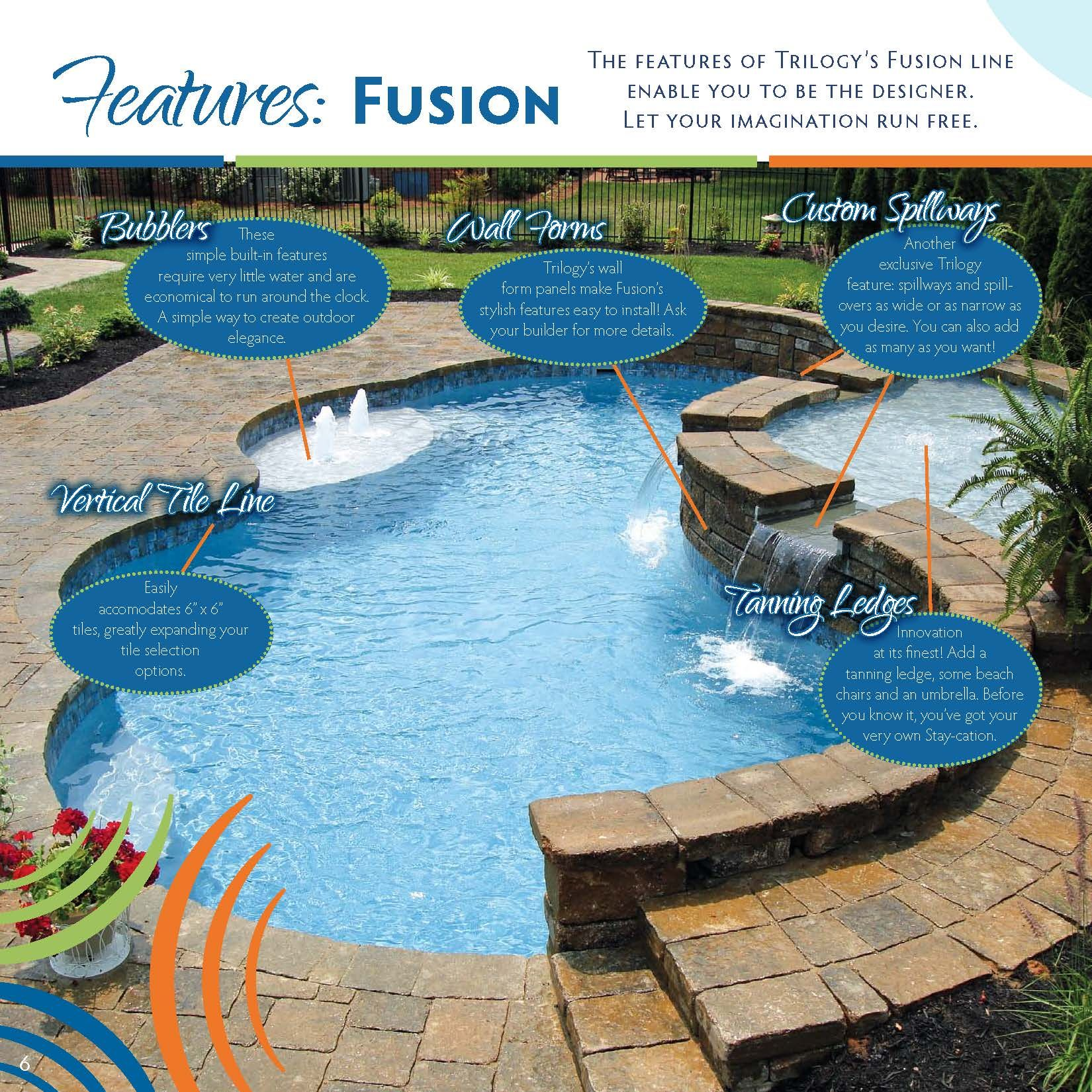 Trilogy Fiberglass Swimming Pool Products Online Brochures My Favorite Choice Combining