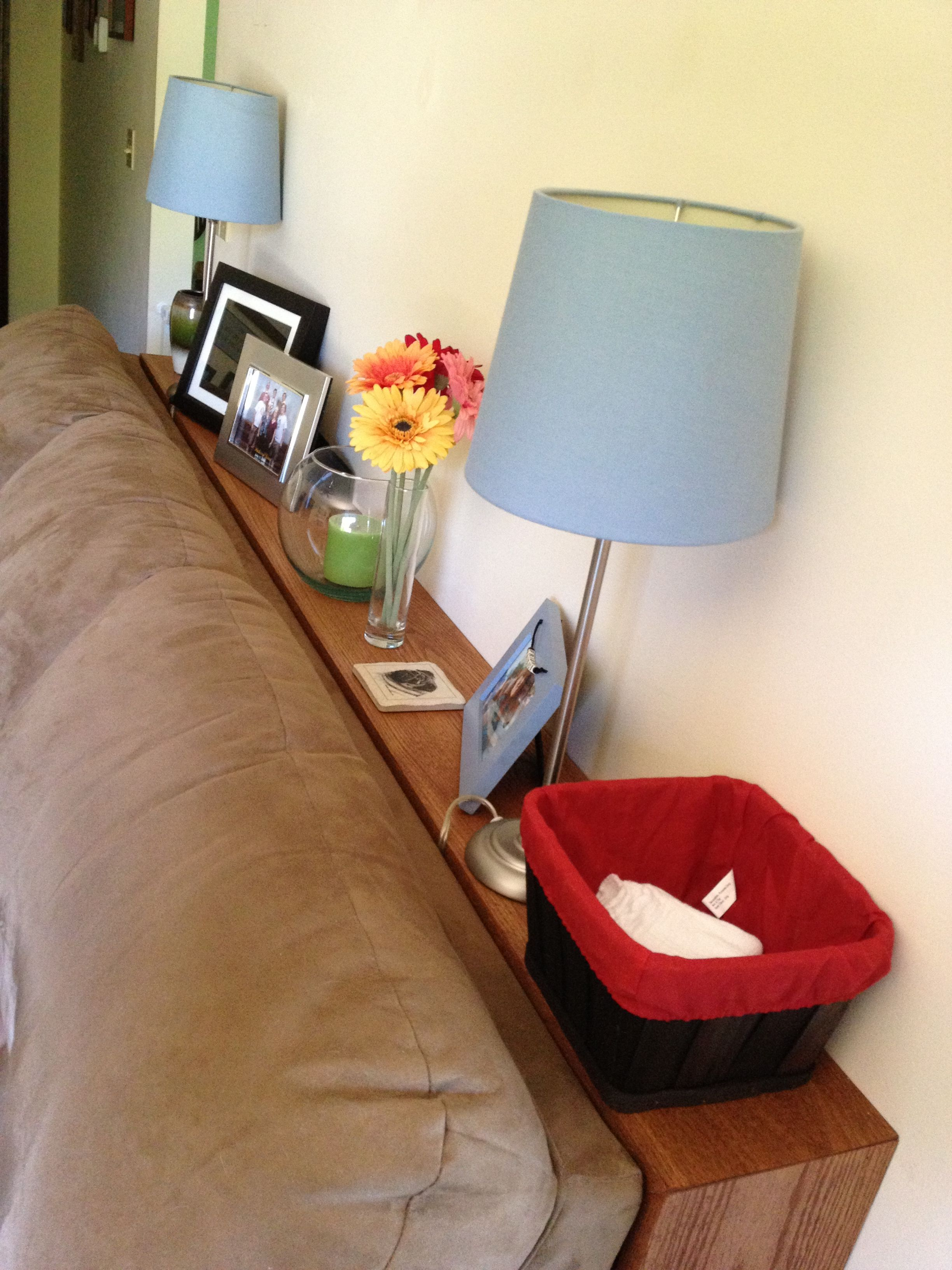 our new shelf behind the couch if you build it. Black Bedroom Furniture Sets. Home Design Ideas