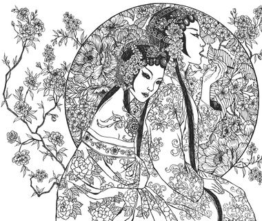 The Art Of Katrina Pallon Moon Blossoms Art Coloring Pages Colouring Pages
