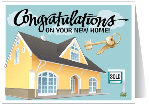 Congratulations On Your New Home home purchase card
