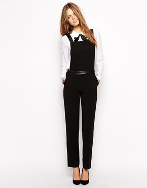 find workmanship variousstyles enjoy bottom price Supertrash Who Pinafore Jumpsuit with PU Panel at Waist ...