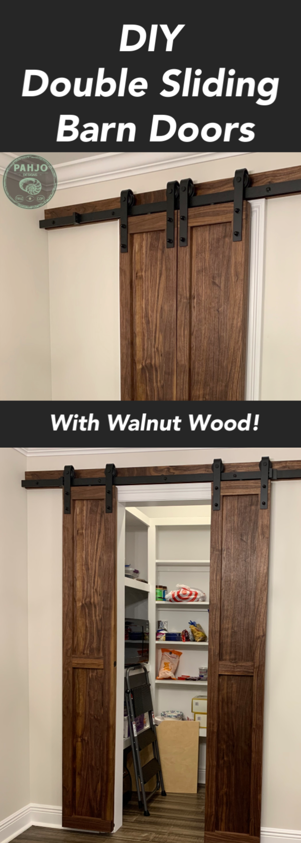 How to Build DIY Double Sliding Barn Doors images