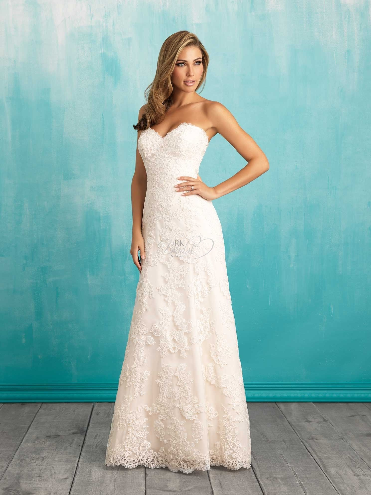 RK Bridal - Strapless sweetheart neckline, modified aline. Buttons ...