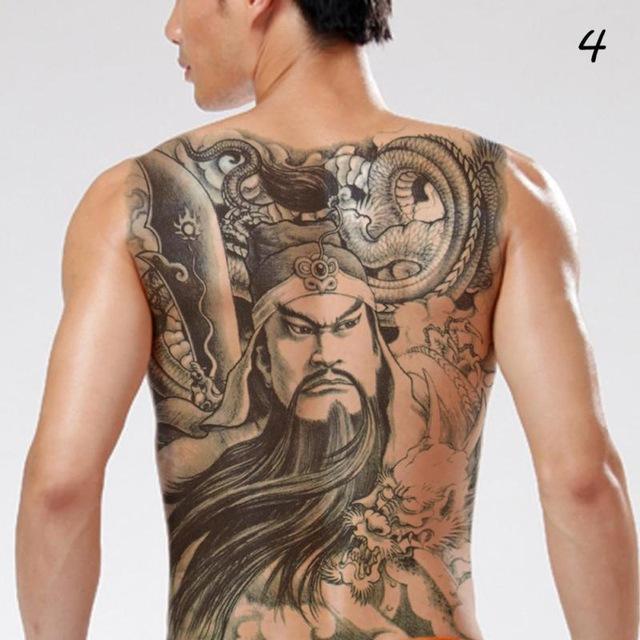Large Back Tattoo Back Tattoo Fake Tattoos Tattoo Transfers