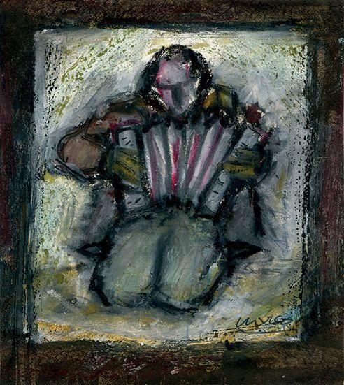 Acordeonista mendicante, 2001