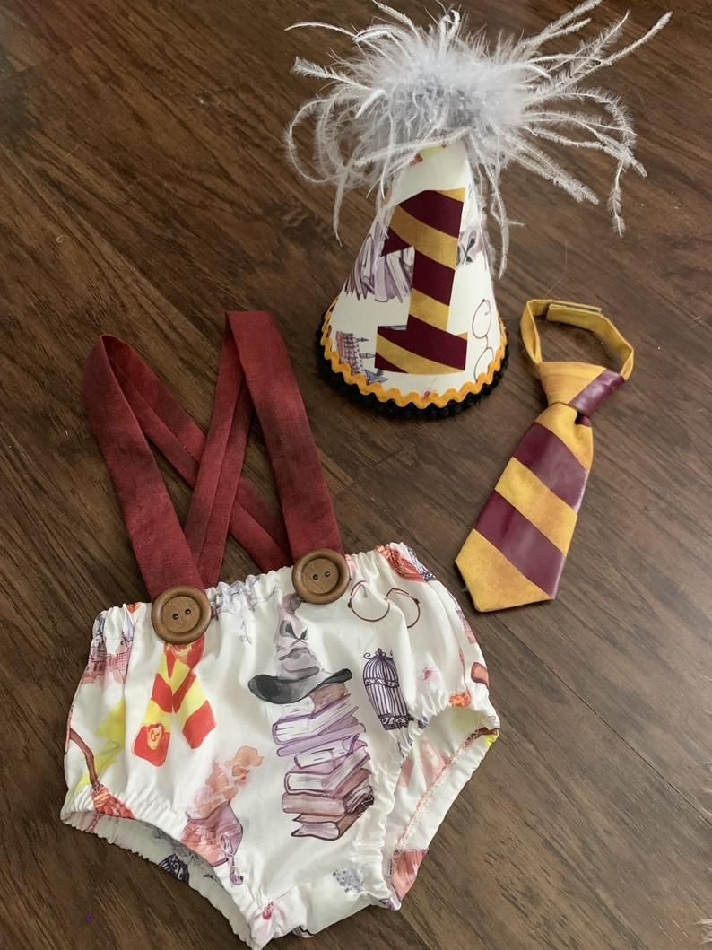 Harry Potter Custom Baby Boy Birthday smash cake outfit