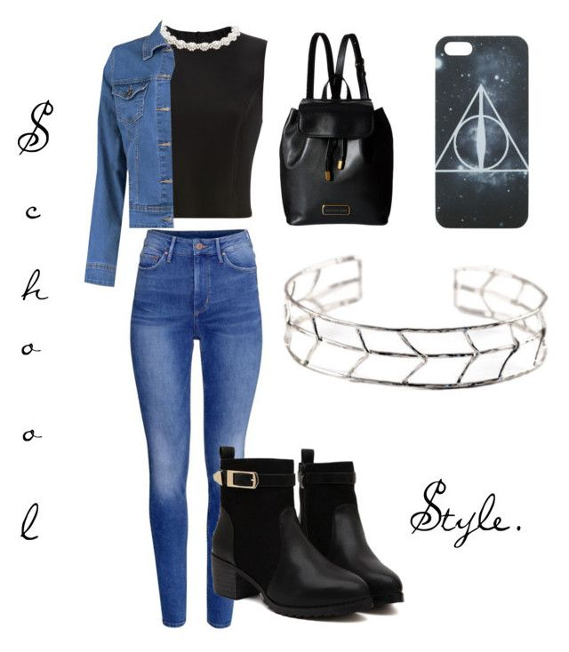 """School style."" by i-m-superstar ❤ liked on Polyvore featuring mode, Simone Rocha, H&M, Boohoo en Marc by Marc Jacobs"