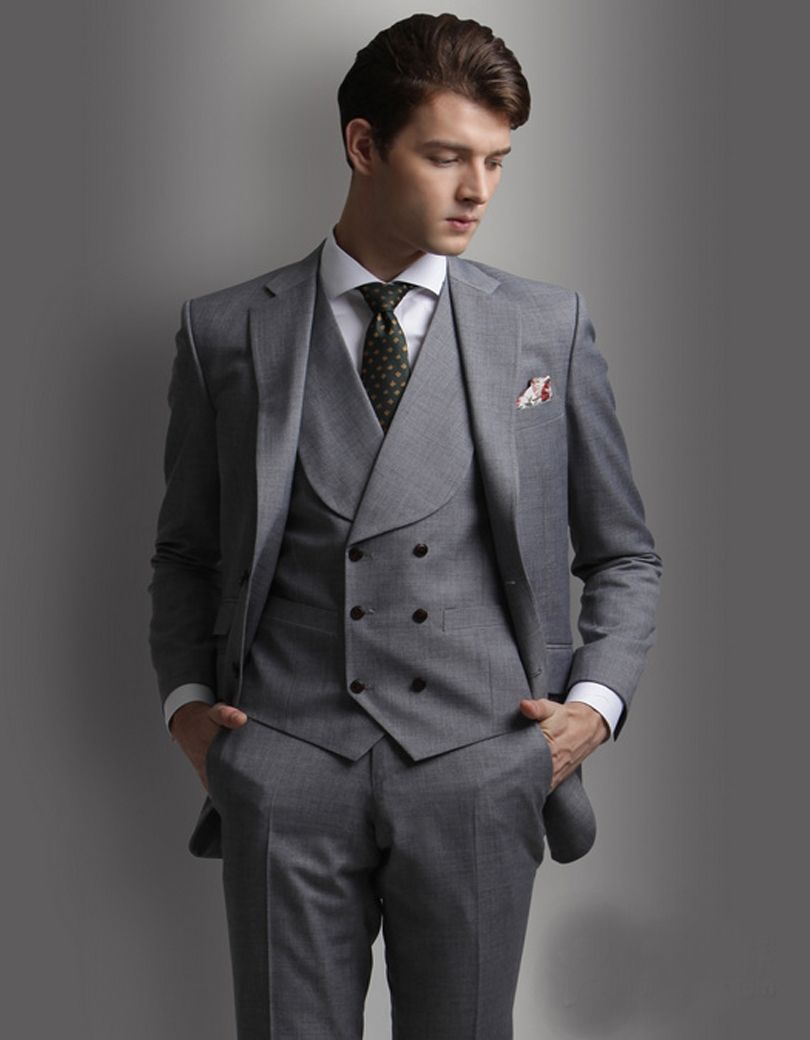 Latest Coat Pant Designs Smoking Grey Men Wedding Suits Prom Tuxedo Slim  Fit Skinny 3 Piece Custom Groom Blazer Terno Masculino b6dd5315e6b