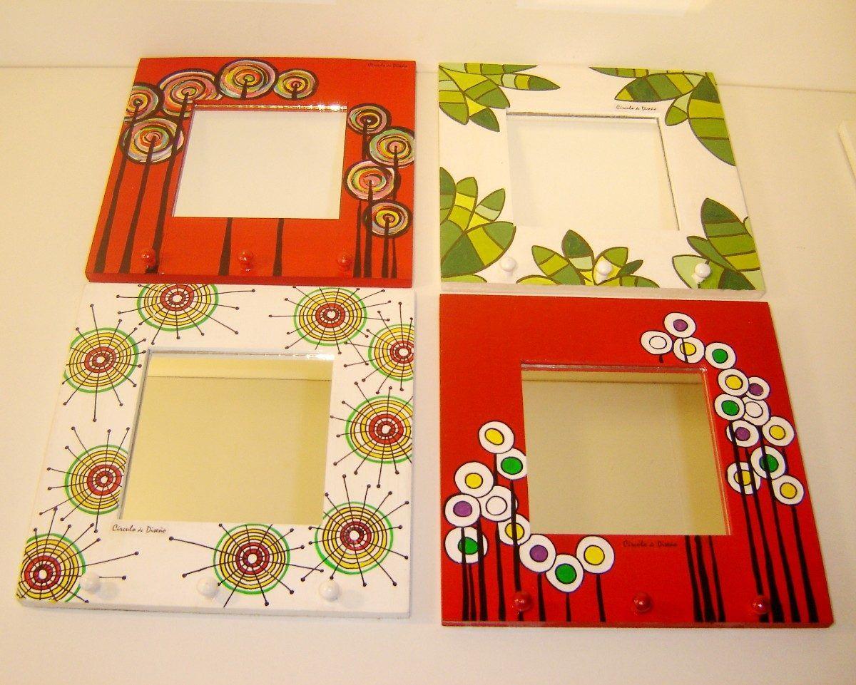 Paraguerod pintados buscar con google portarretratos for Espejos con marco de madera decorados