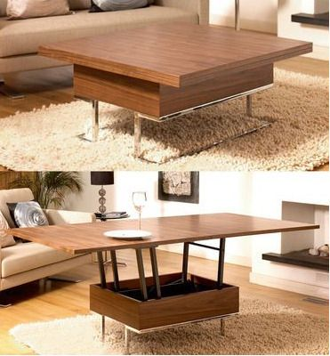 Genial Dwell Convertible Coffee Table For Tiny/no Dining Space
