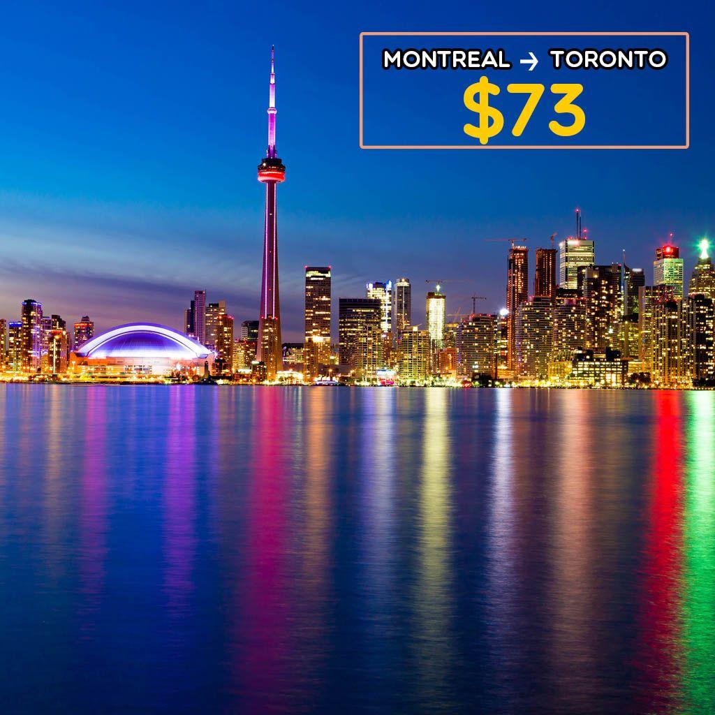 Montreal - Toronto | Non-Stop Flight on 20th April | Compare Airfares with Farenexus today :)  #montreal #toronto #nonstop #airfares #cheapairticket #travel #enjoy #vacation #farenexus