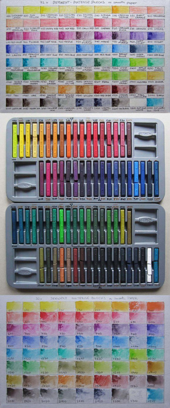 Derwent Inktense Blocks Color Chart By Pesim65 Art Instruction