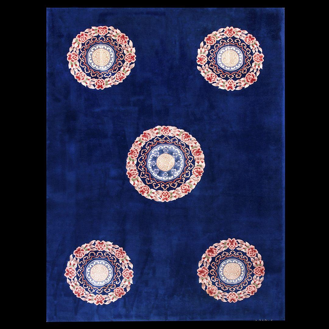 #22477 Chinese Art Deco Rug Circa: 1940 #antique #rug #nyc #chineseartdeco