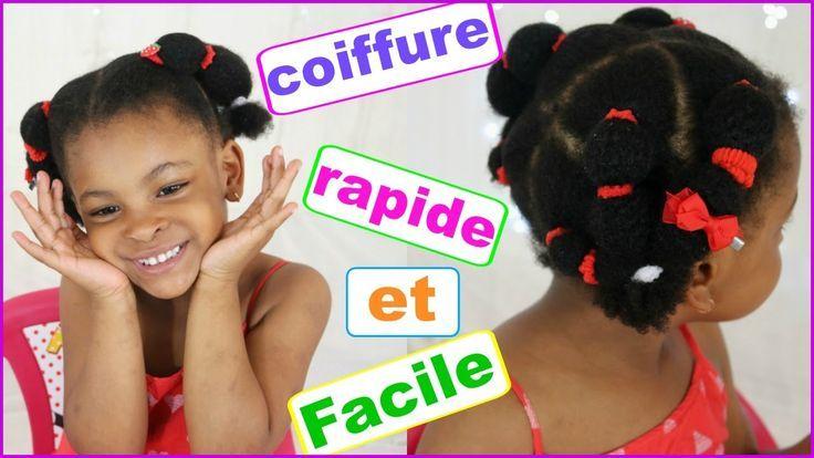 TUTO COIFFURE cheveux rapides et faciles enfants afro /