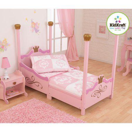 KidKraft Princess 4 Piece Toddler Bedding Set, White