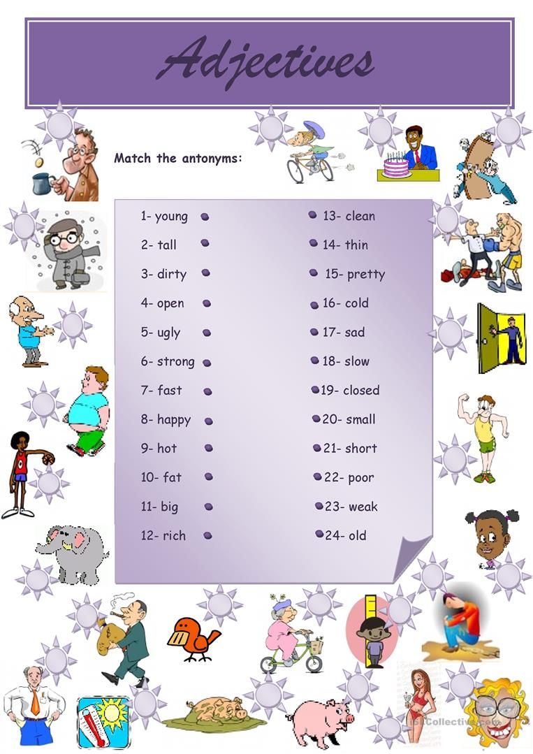 Adjectives Opposites Adjectives Opposites For Kids English Worksheets For Kids [ 1079 x 763 Pixel ]