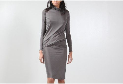 MM6 Maison Martin Margiela  Turtleneck Twist Dress  $389.00