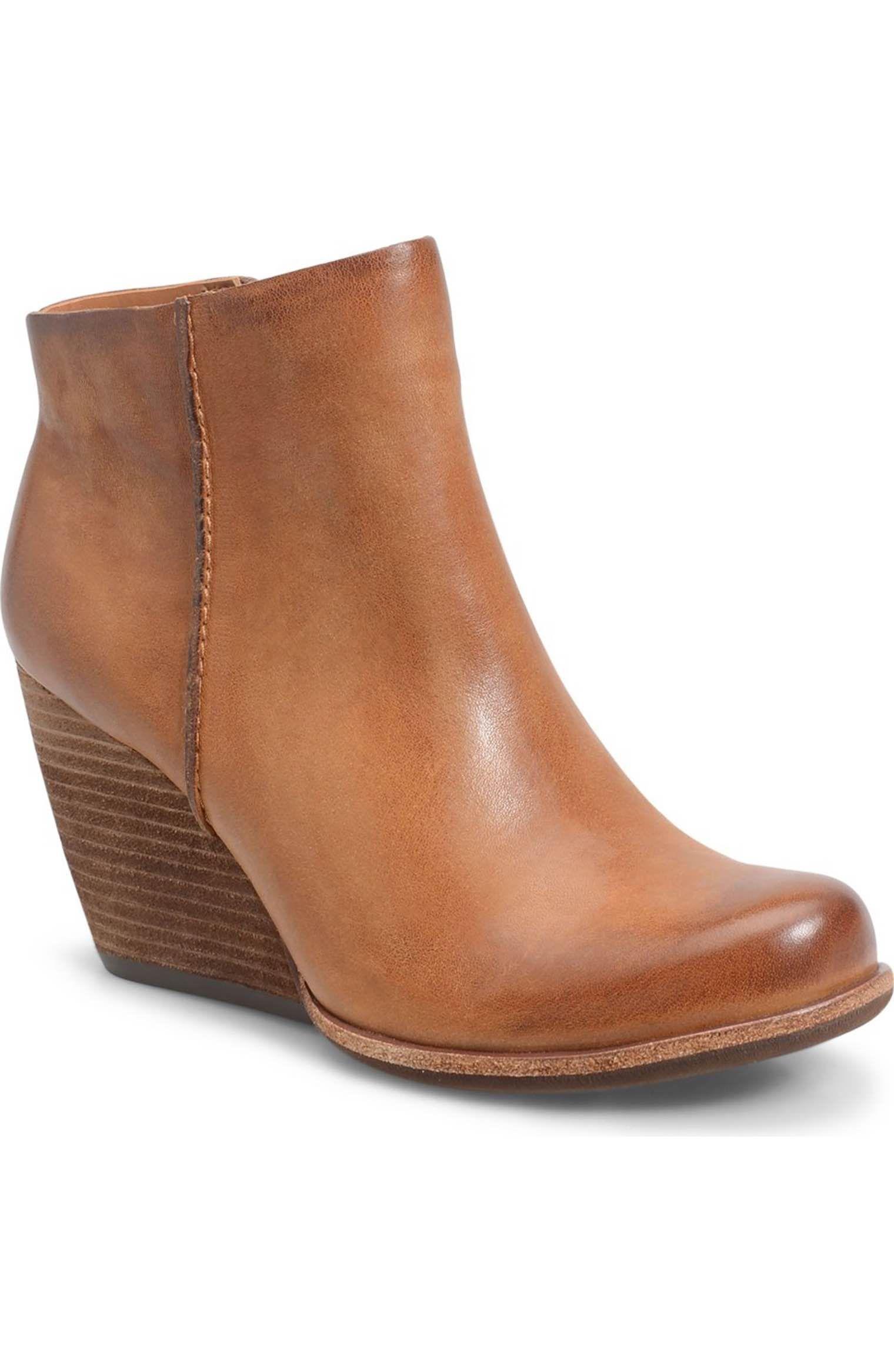 Main Image - Kork-Ease® 'Natalya' Burnished Leather Demi Wedge Boot (