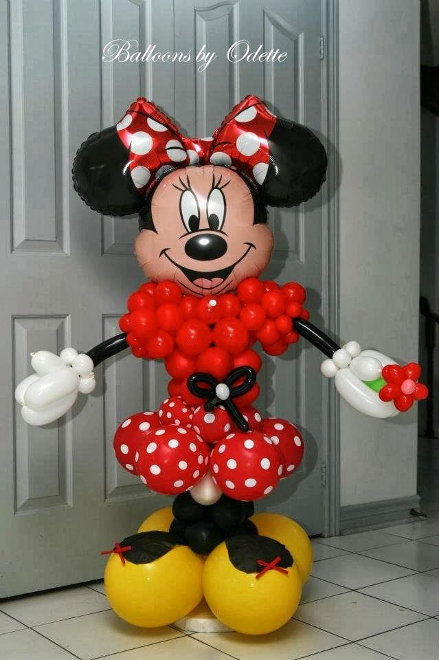 Balloons by odette minnie mouse toronto teacher mom for Balloon decoration minnie mouse