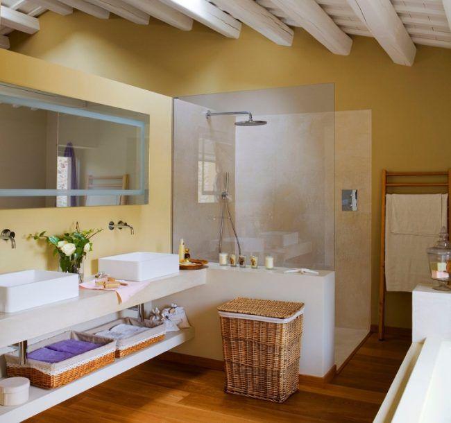 moderne-badgestaltung-holz-boden-gemauerste-dusche-glas ...