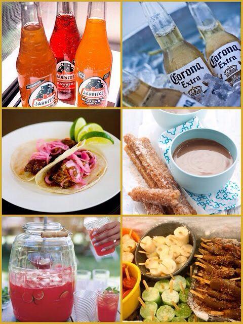 Comida boda estilo mexicano.