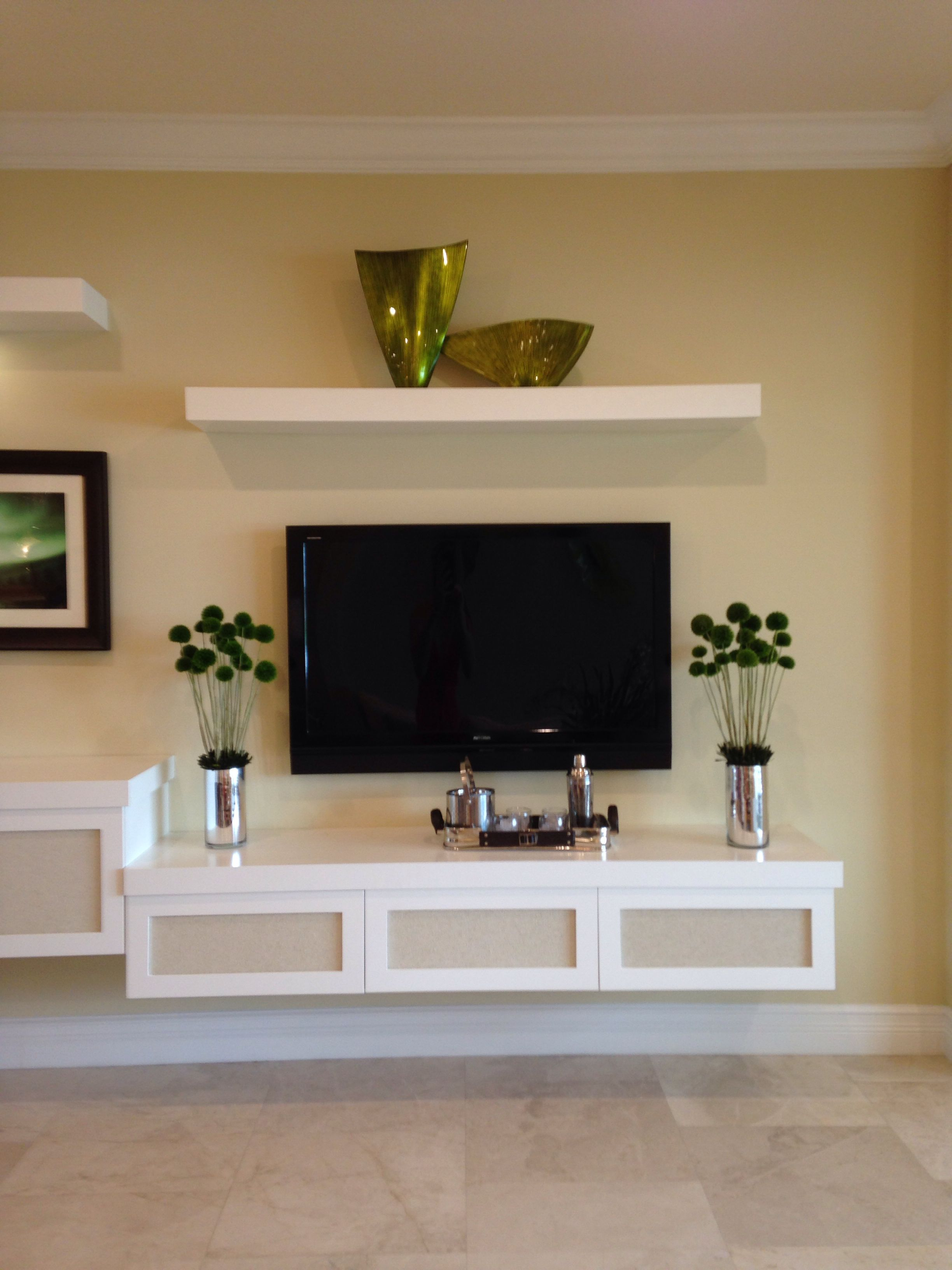 Tv Stand Decor Ideas Floating Tv Stand Home Ideas Floating Tv Stand
