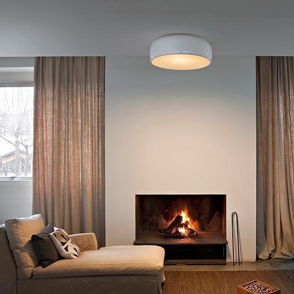 Buy Flos Smithfield Ceiling White By Jasper Morrison Flos Smithfield Modern Ceiling Light Flos
