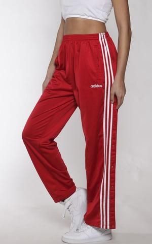 95dc0732d Vintage Adidas Tearaway Track Pants Red Adidas Pants, Adidas Joggers, Adidas  Outfit, Pants