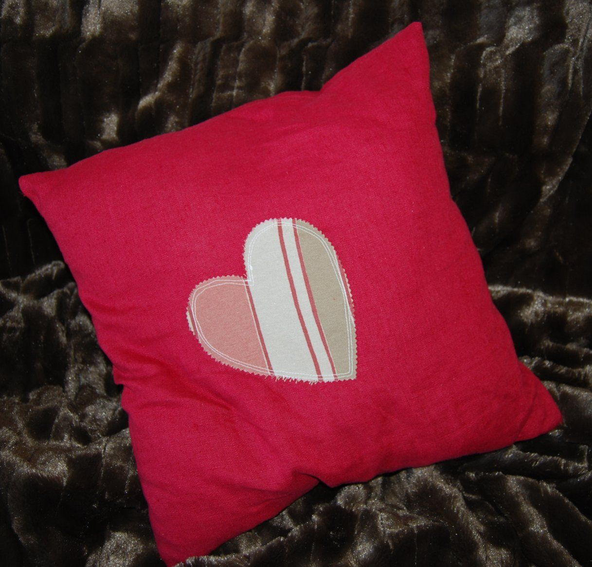 Red linen and stripey heart