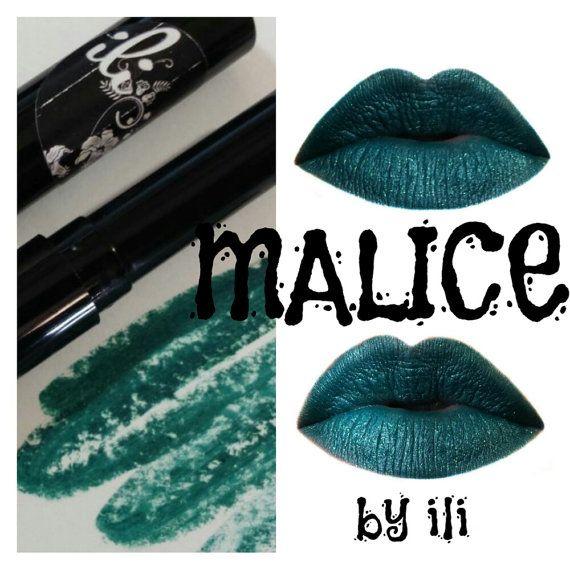 Malice Dark Teal Lipstick Mini  ili by InspiringLoveInside on Etsy
