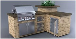portable bbq islands | ... King Outdoor Kitchen L-shaped ...