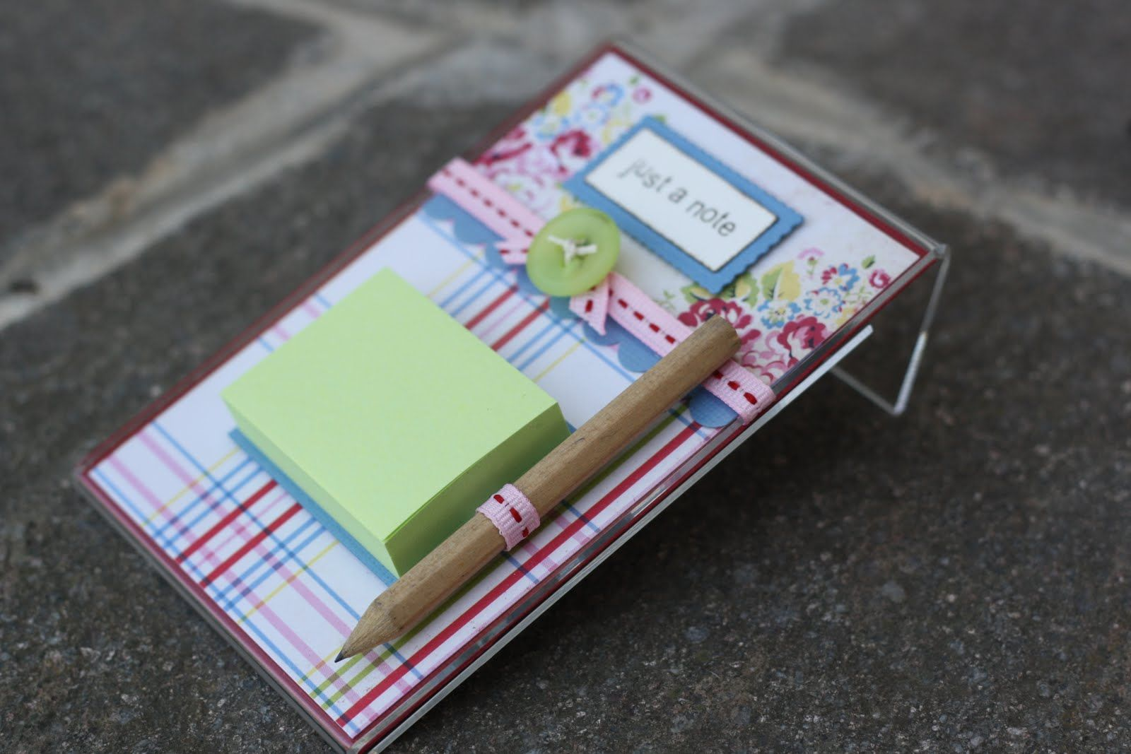 just a note... Post it note holders, Teacher gifts, Post