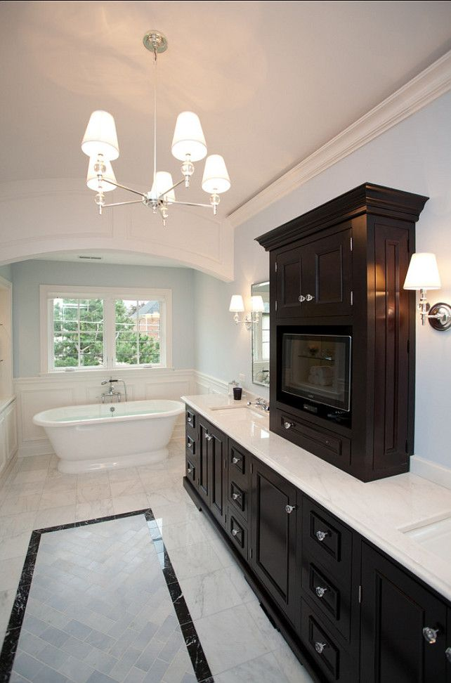 Best Paint Color For Bathroom With Dark Cabinets
