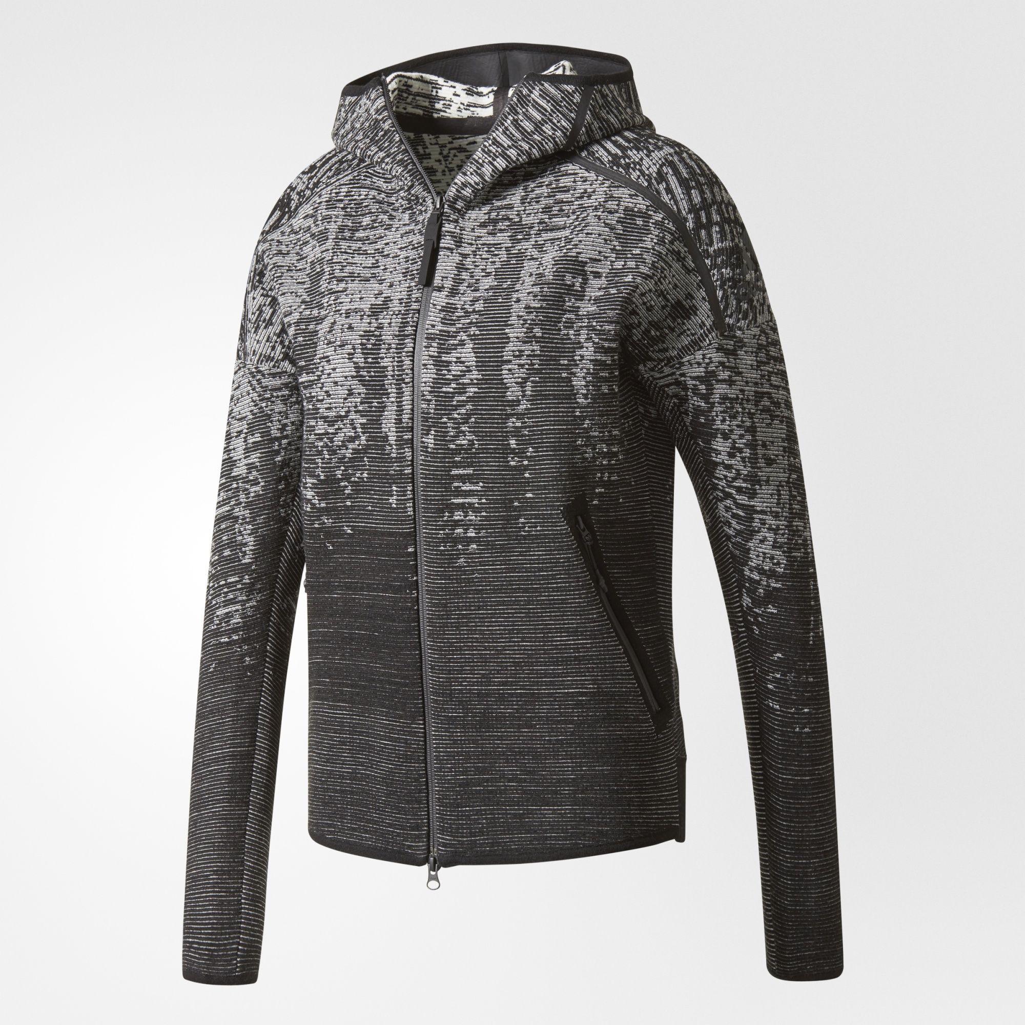 Neu Adidas Z.N.E. Pulse Grau Jacke Damen Auf Verkauf