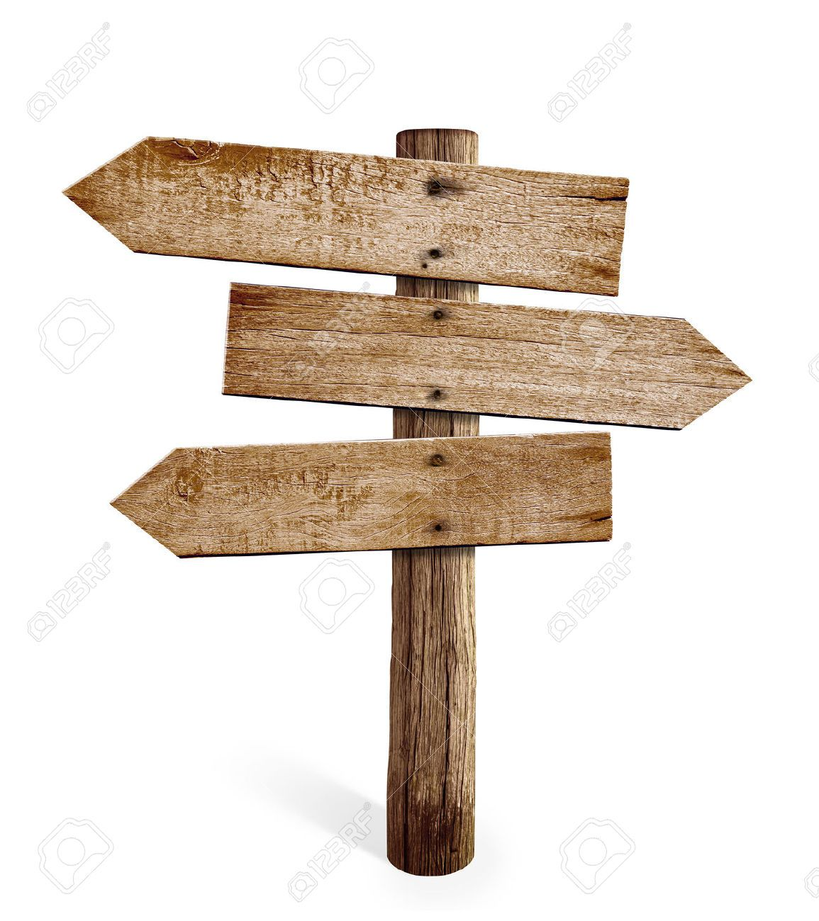 Wooden Arrow Sign Post Or Road Signpost Isolated Wooden Arrow Sign Wooden Arrows Wooden Signs