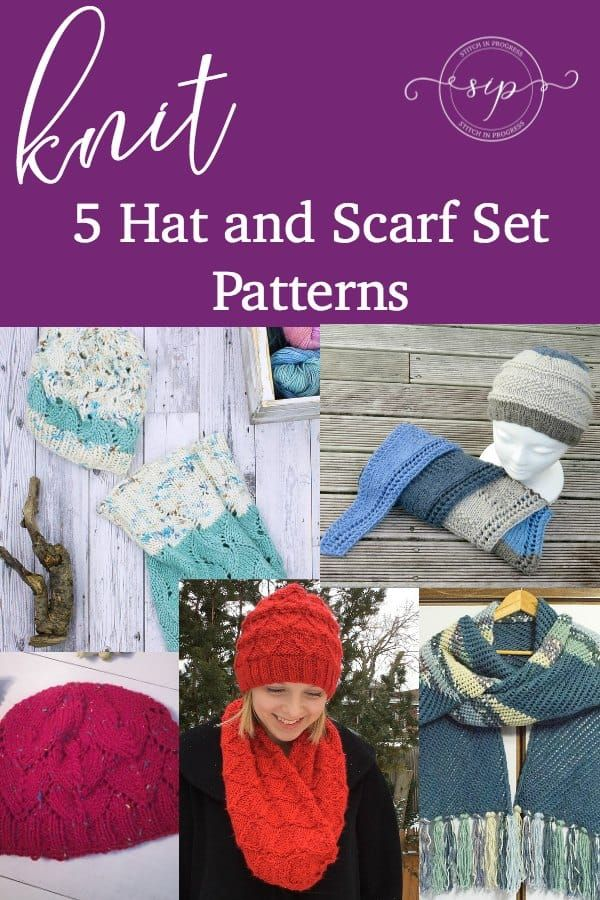 Pattern Roundup Knit Hat And Scarf Sets Scarf Patterns Knit