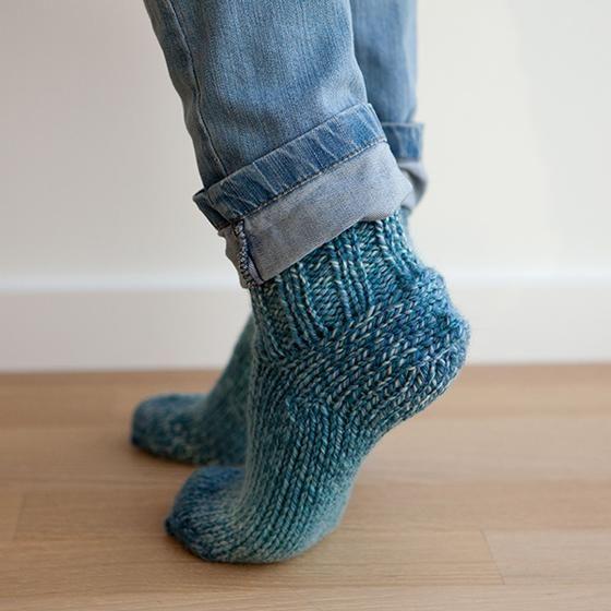 Chunky Slippers Pattern | Knitting patterns, Knitting ...