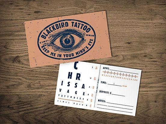 Blackbird Tattoo Business Cards | Business Cards | Pinterest