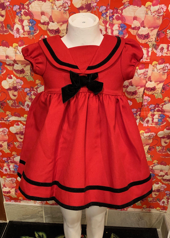 Sailor Dress 3 4t Etsy Sailor Dress Black Sailor Dress Vintage Toddler Clothes [ 3000 x 2137 Pixel ]