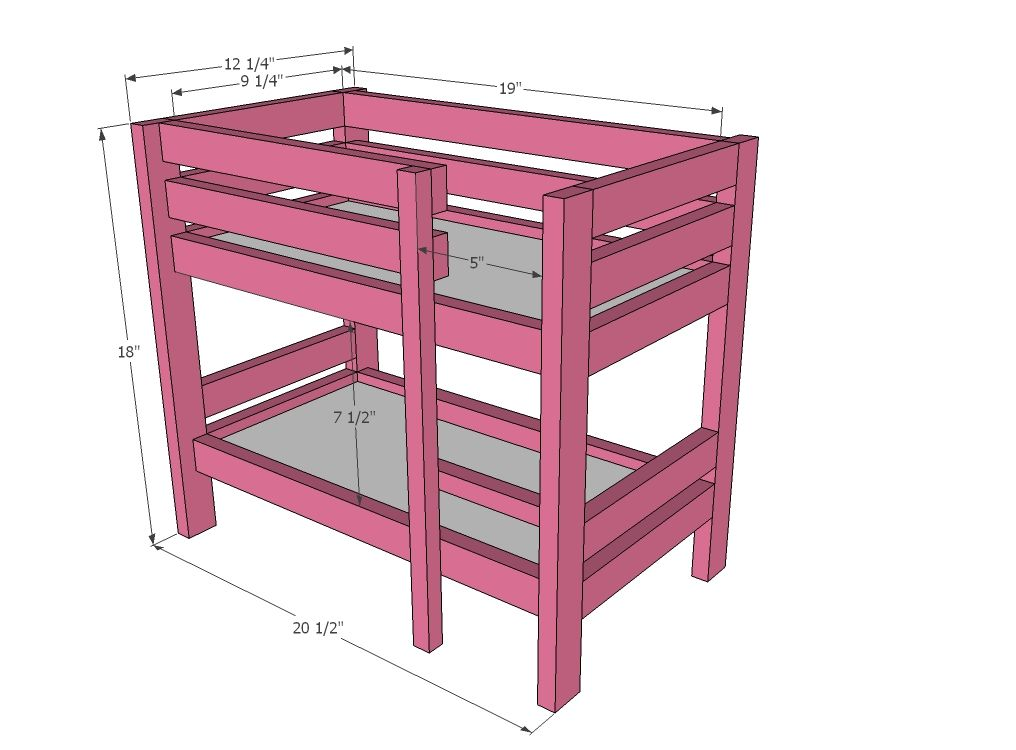 Doll bunk beds on pinterest for Furniture 123 bunk beds