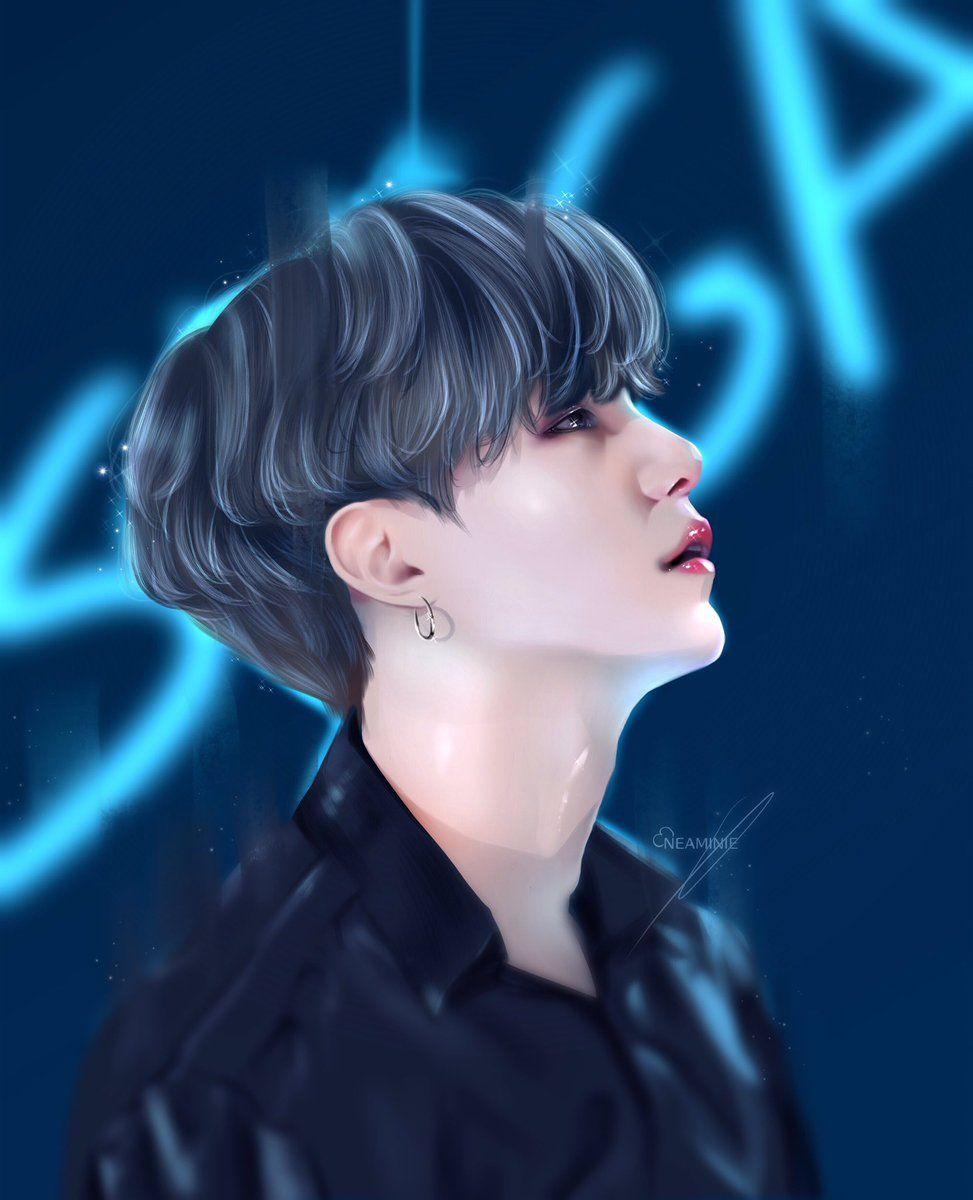 Pin By Fannie Vianney On Yoongs Bts Fanart Fan Art Suga