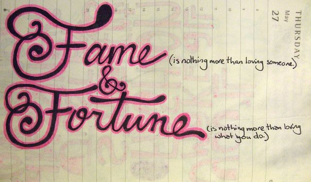 fame and fortune- what i intend to achieve