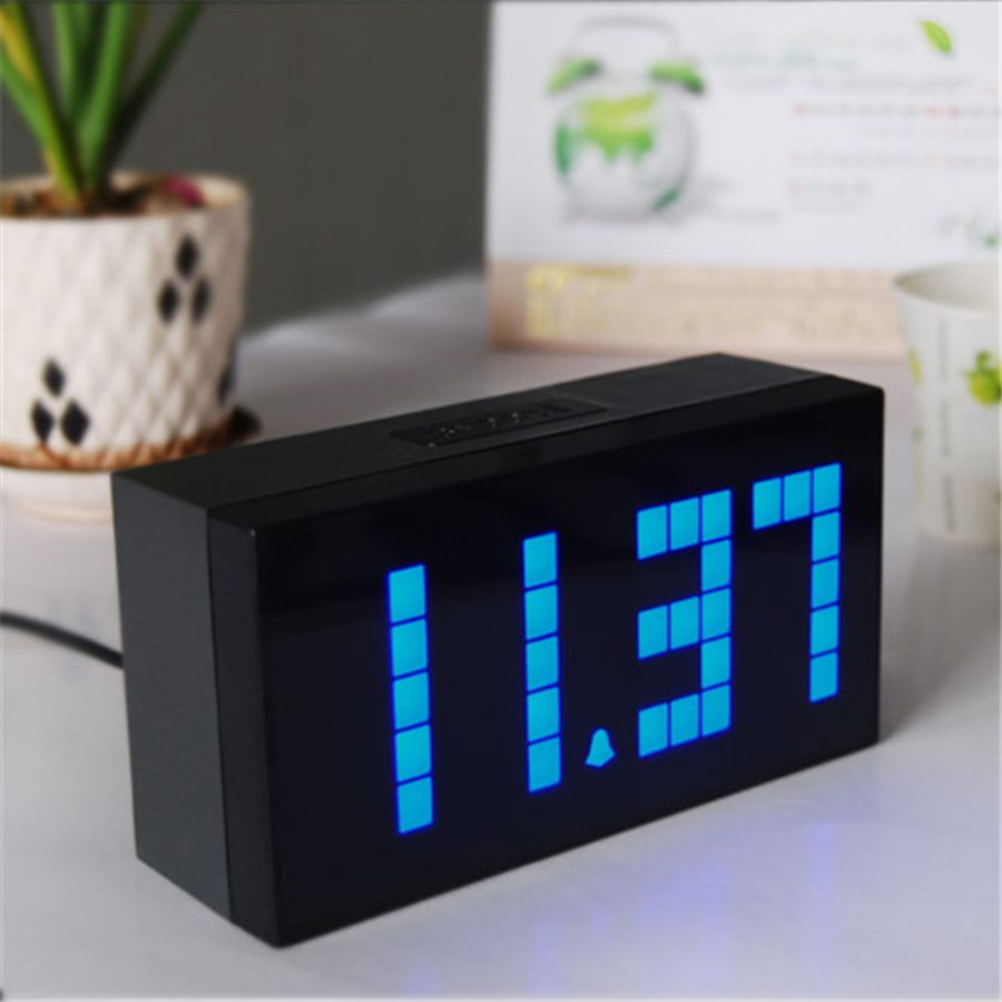 Large Led Alarm Clock Show Thermometer Date Countdown 6