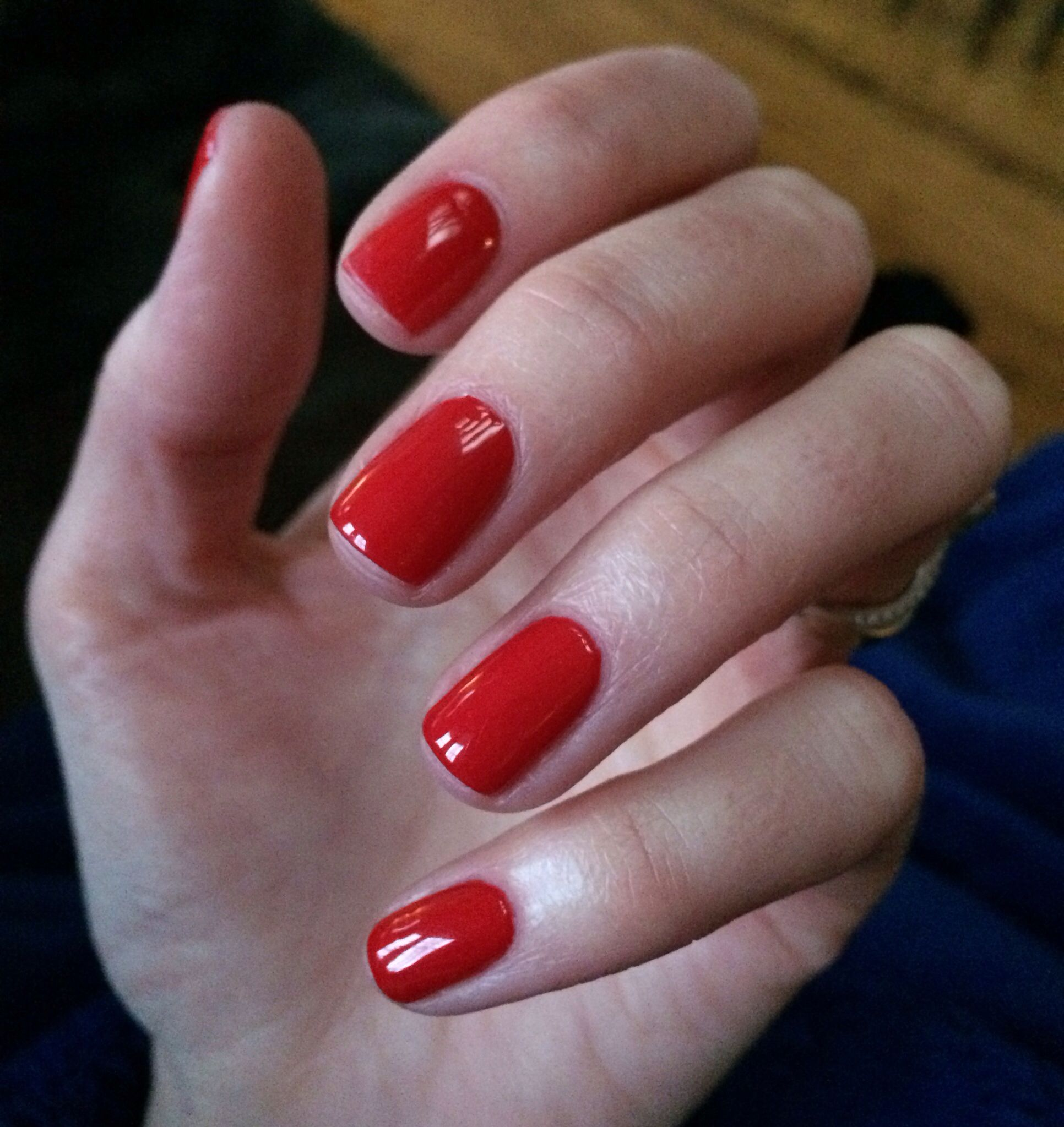 Cnd Wildfire Shellac For Clic Red Nails