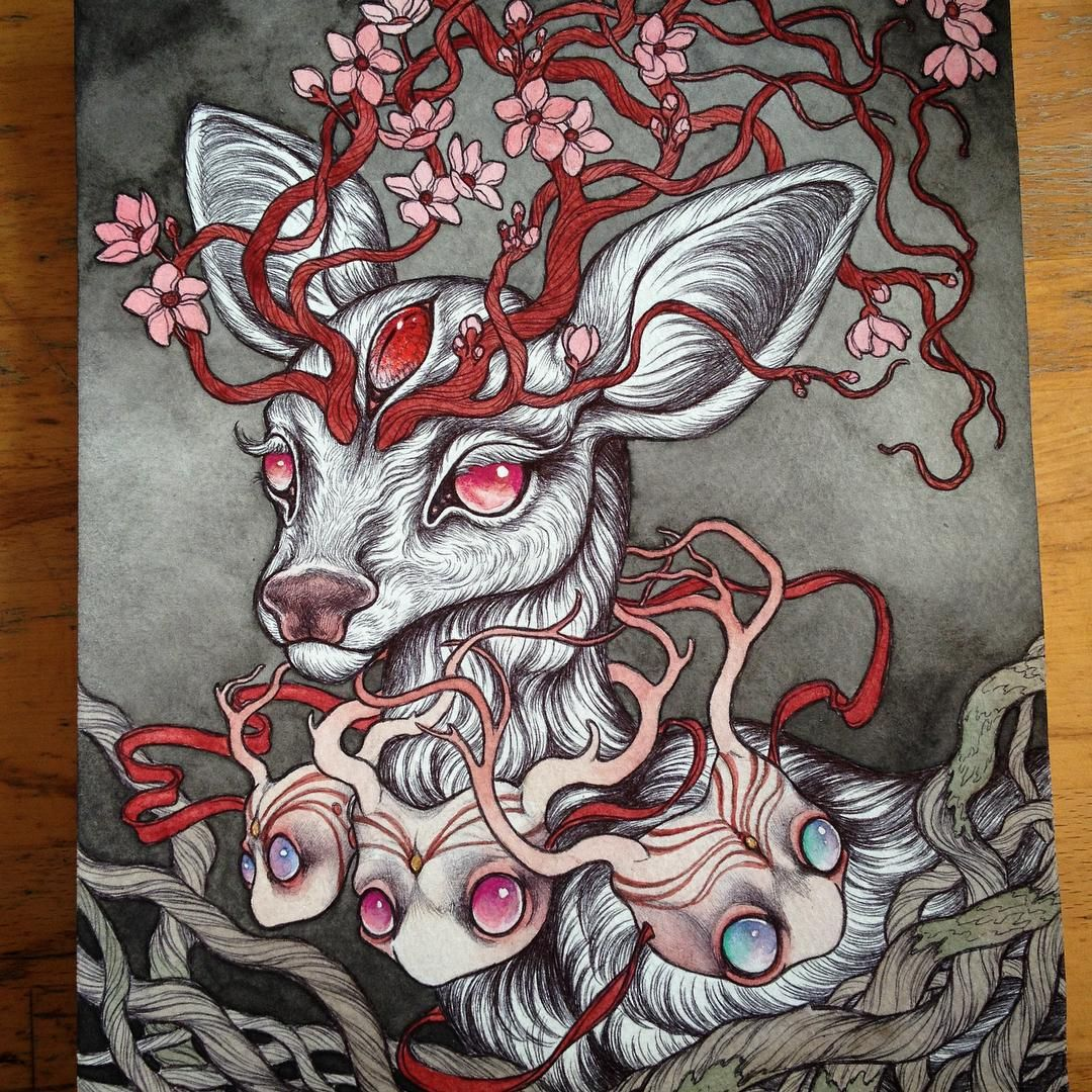 deer painting by caitlin hackett