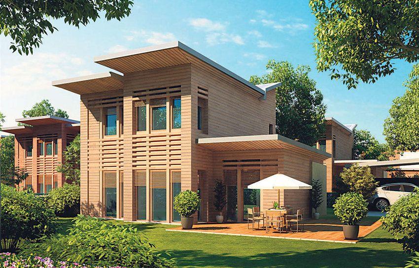 Des maisons bois passives vertes et
