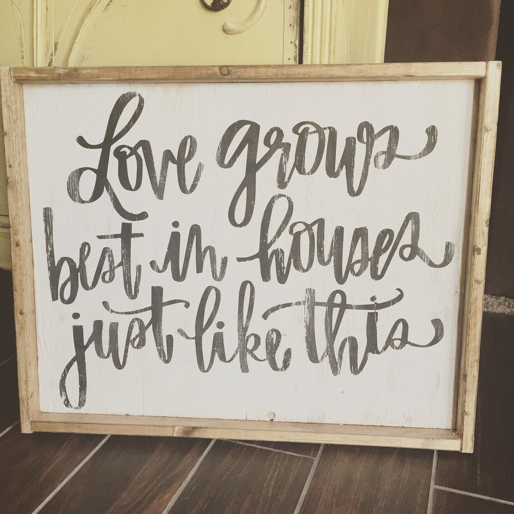Love grows best (cursive writing) – JaxnBlvd | Home Decor